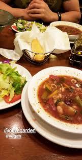 soup salad and breadstick at olive garden in lawrenceville