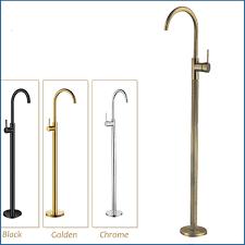 bathroom faucets solid brass swivel spout bathtub faucet bathroom single handles hot cold water mixer tap floor mount