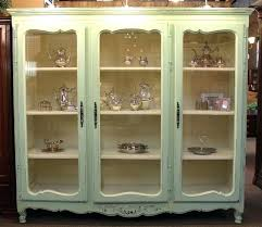 display case with glass doors large french country painted bookcase or display cabinet with 3 glass display case with glass doors