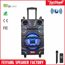 party outdoor big power wireless system bluetooth speaker with trolley 12 inch f12 20