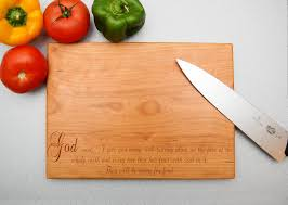 cutting board with food. Genesis 1:29 They Will Be Yours For Food Cutting Board Gift Christmas, Birthday, Anniversary, Church, Pastor, Minister, God With