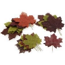 Burlap Fall Leaves: Asst (24)