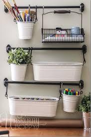 craft room organization with ikea buckets