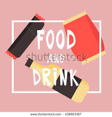 Vending Machine Label Template Simple Fast Food Snacks Drink Flat Vector Stock Vector Royalty Free