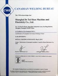 Canadian Cwb Certified Welders Successful Completion Of Six Months