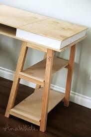 sawhorse table legs wood kitchen