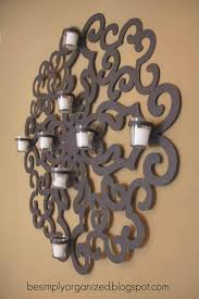 ... Gorgeous Wall Lighting Decoration Using Large Wall Candle Sconces :  Cheerful Brown Metal Large Wall Candle ...