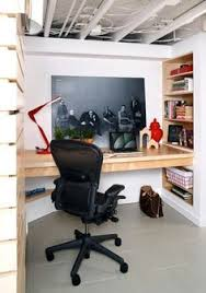 basement office idea a way to finish or not the ceiling basement office setup 3 primary