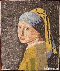 girl pearl earring com girl pearl earring mosaic interpretation of famous work by vermeer