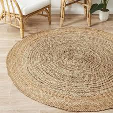uyuni natural jute silver grey round floor rug m 150x150cm free delivery