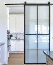 steel glass barn door bds04