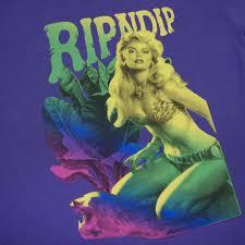 Фиолетовая <b>футболка RIPNDIP</b> Jane Tee Deep Purple в наличии ...