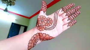 Front Hand Mehndi Design Simple Elegant Arabic Henna Mehndi Design For Beginners Naush