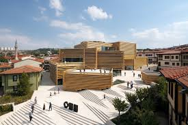 Residential Timber Design Kengo Kumas Stacked Timber Museum Opens In Turkey