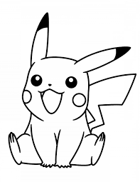 Coloring Page Black And White Coloring Pictures Fto Pikachu