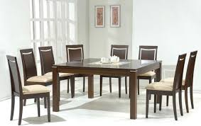 Contemporary Dining Table Designs In Wood And Glass Glass Top Microfiber  Seats Modern Dining Contemporary Dining