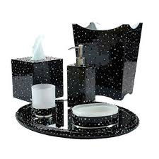 black and white bathroom accessories. Unique Black Mike And Ally Stardust Bath Accessories Black Silver Trim FLandB Com Inside White  Bathroom Remodel 14