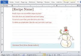 Christmas Recipe Cards Template Christmas Recipe Card Template Free Christmas Recipe Card