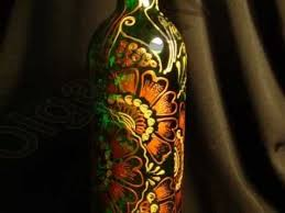 Decorative Wine Bottles With Lights Hand painted wine bottles by Olga Stavrou YouTube 49