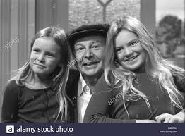 Entertainment - Clive Dunn and daughters - London Stock Photo - Alamy