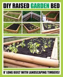 diy garden planter raised with timber