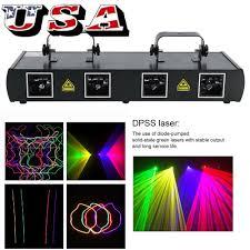 Online Laser Light Show 4 Lens 460mw Dmx Dj Laser Stage Light Club Party Lighting Projector Show Cable