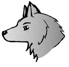 simple wolf drawing. Modren Drawing Simple Gray Wolf Drawing  Gallery And O