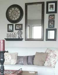 stylish mirror wall clock large