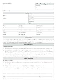 Sale Or Return Agreement For Used Car Sales Sign Template Auto Parts