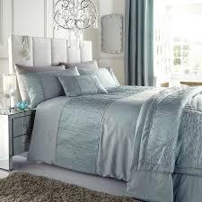 super king size duvet cover bed set sahara duckegg faux silk taffeta crinkle