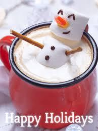 Holidays Snowman Happy Marshmallow Snowman Happy Holidays Card Birthday