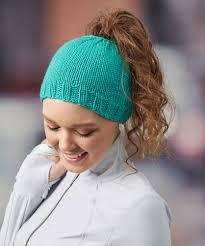 Messy Bun Hat Knit Pattern