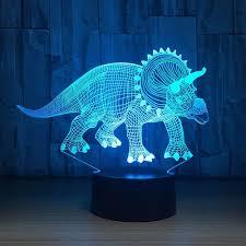 Triceratops Light Triceratops Dinosaur Art Lamp 3 D Led Night Light