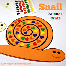 Free Craft Printables Templates Snail Sticker Craft Free Printable Snail To Cover With