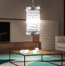 Design Pendelleuchte Kristallstrahler Länglich Schlafzimmer Lobby