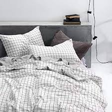 black and white bed covers. Contemporary White Wake In Cloud  Grid Duvet Cover Set 100 Cotton Bedding Black Throughout And White Bed Covers C