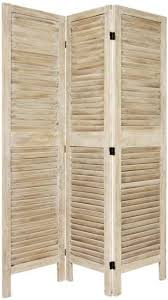 panel room divider white folding wall standing screen slats wooden furniture