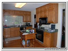 Update Oak Cabinets Updating Kitchen Cabinets Molding And Side Panel To Update