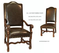 leather dining room chairs dining chairs old world all leather 6
