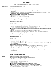 Help Desk Resume Examples Helpdesk Specialist Resume Samples Velvet Jobs 21