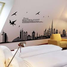 beautiful flight cityscape wallpaper bedrooms vinyl big wall stickers home decor vintage living room sofa wall art decals wall stickers for home wall