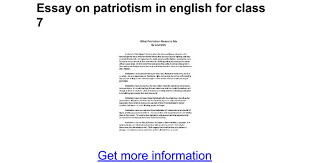 essay on patriotism in english for class google docs
