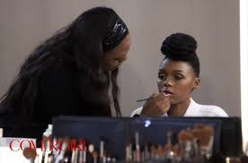 cover janelle monáe and makeup artist pat mcgrath snapped backse at janelle s first cover photo shoot backse photos