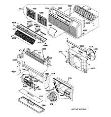 ge model az32h09d2bm1 air conditioner room genuine parts