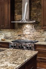 Stone Kitchen Kitchen Stone Backsplash Ideas With Dark Cabinets Powder Room