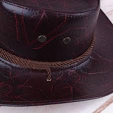 men women western artificial leather cowboy knight hat outdoor wide brimmed hat