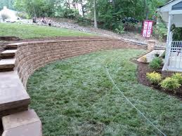 block retaining wall landscaping fredericksburg va stafford nursery
