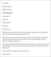 employee resignation letter example format for resignation letter