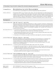 Account Executive Resume Objective Account Manager Resume Objective