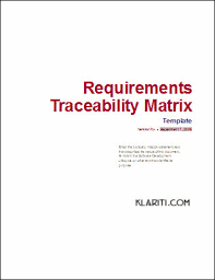 requirements traceability matrix templates requirements traceability matrix template other files documents